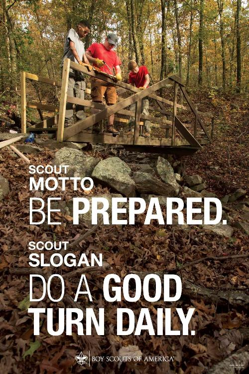 Scout Motto Scout Law Poster
